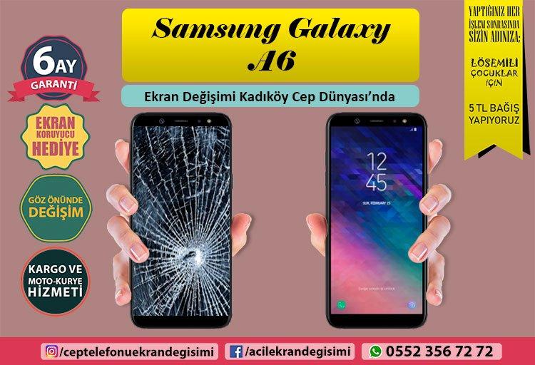 Samsung Galaxy A6 ekran değişimi kadıköy