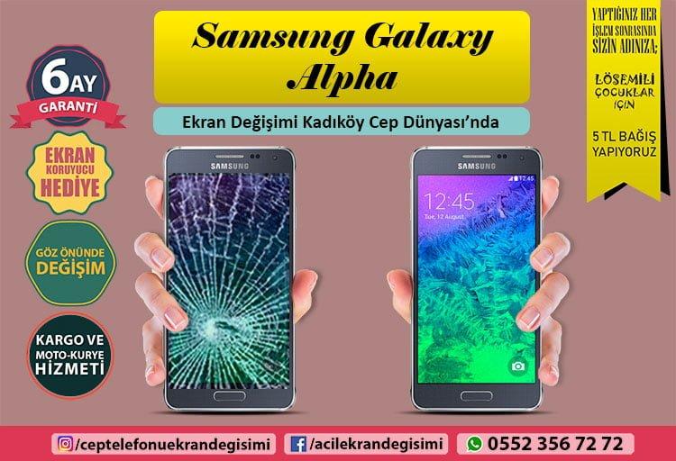 Samsung Galaxy Alpha ekran değişimi