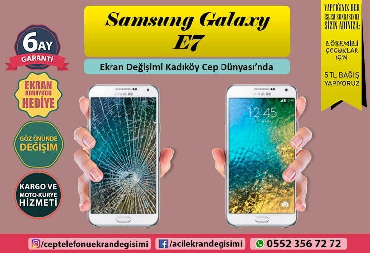 Samsung Galaxy E7 ekran değişimi istanbul